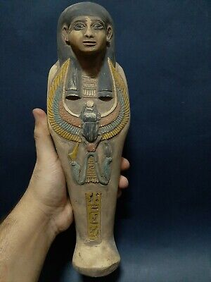 ANCIENT EGYPTIAN ANTIQUES USHABTI Shabti With HIEROGLYPHICS Servant Minions BC