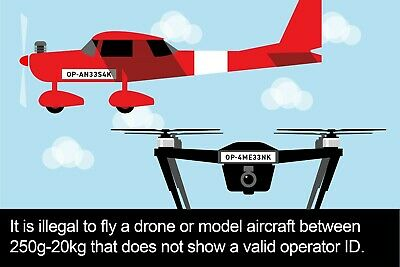 CAA Flyer & Operator ID Labels - Drone & Model Aircraft Civil Aviation Authority