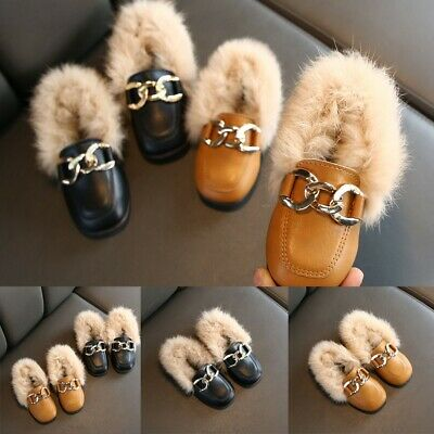 Child Infant Kids Baby Girls Casual Winter Warm Furry Hairy Shoes Casual Boots