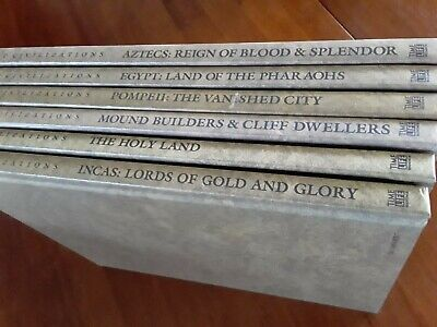 """Time-Life """"Lost Civilizations"""" Book Series Lot of 6 (out of 24) from 1992"""