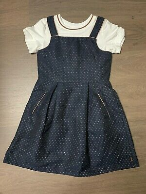 New Ted Baker Girls Dress With Top Set Outfit Pinafore Size 8-9 Years