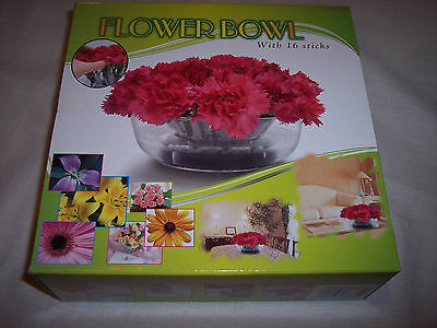 ,Flower Bowl, Your Own Flower Arrangments With 16 Sticks for Arrangments