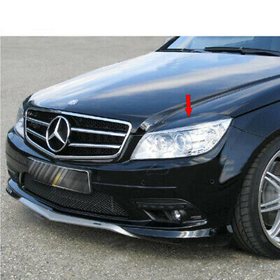 STOCK USA Mercedes Benz W204 C-Class Sedan Front Eyelids Eyebrows Cover 08-11