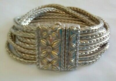lovely nice quality Antique style Victorian 5 chain magnetic clasp bracelet