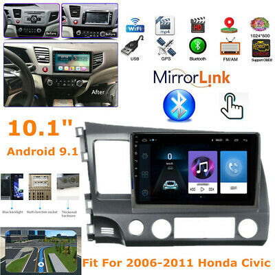 """10.1"""" Android9.1 Stereo Radio GPS Navigation Player Fit For 2006-11 Honda Civic"""