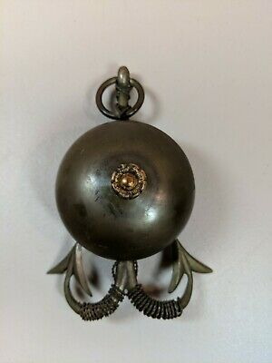 Antique Brass Nautical Bell Vintage Ornate Mechanical Twists works nice detail