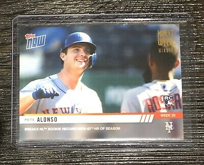 2019 Topps Now Moment of the Week Gold Winner Pete Alonso RC Card MOW-20W RARE!!