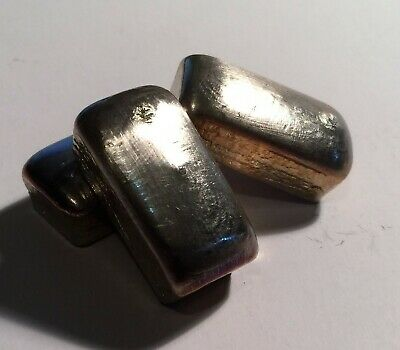 """1 Troy OZ 999 Pure BISMUTH SPM Bullion """" Chunky Style"""" Ingot (Great Investment)"""