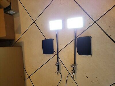 Pair of LED Display Lights with Metal Clamps