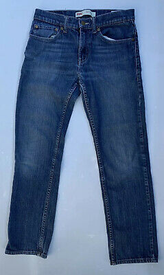 Levis 511 Slim Fit Jeans Boys Dark Wash Blue Pants Casual Size16 REG 28X28