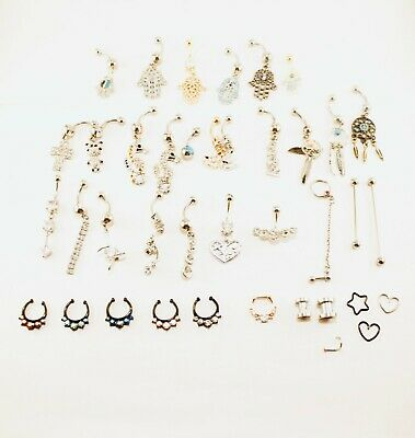 Piercings Pack. New. More than 30 diferent models. 307Pieces.  OBS.
