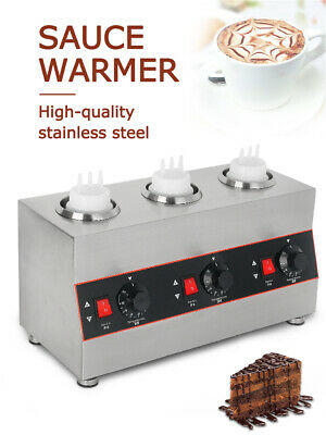 Electric Stainless Steel Sauce Warmer Sauce Insulation Machine Three Bottle 240W