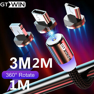GTWIN Type C Lightning Micro USB Magneitic USB Fast Charging & Data Sync Cable