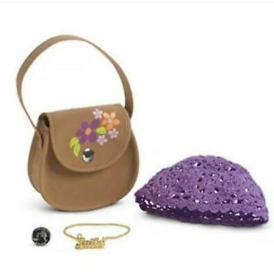 American Girl Julie CLASSIC ACCESSORIES MEET retired purse hat necklace coin
