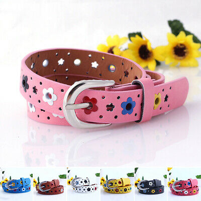 Baby Kids Boys Girls PU Leather Waist Belt Waistband Buckle Adjustable Belts New