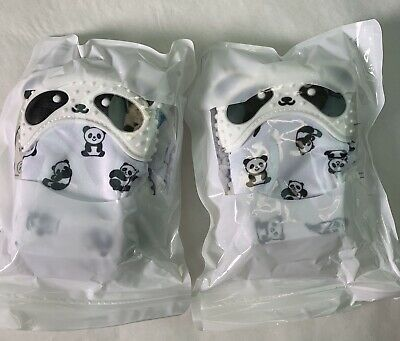 4 Cute Panda Teething Mittens for Baby, Teether Toy, Teething Mitt