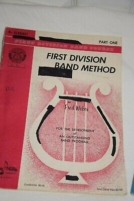 First Division Band Method Clarinet Book Belwin Mills Part One