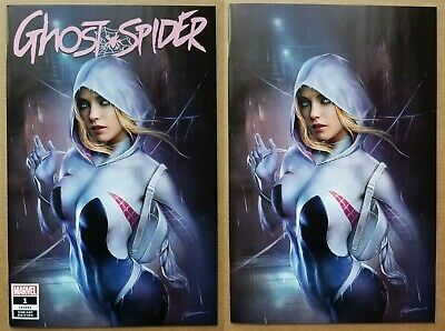 Spider-Gwen Ghost Spider #1 Shannon Maer Trade + Virgin Exclusive Variant Set 🔥
