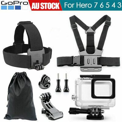 8XAccessories Pack Case Chest Head Bike Monopod Float Mount for GoPro Hero 7 6 5