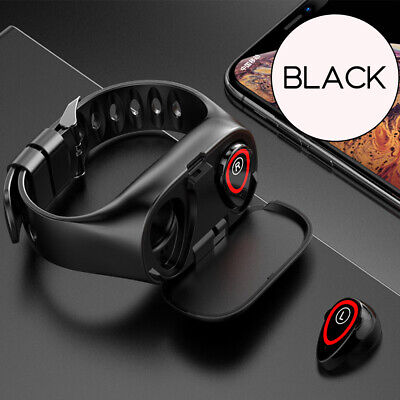 M1 Smart Watch & Earbuds 2 in 1 Fitness Heart Rate Monitor Wristband Standby FY