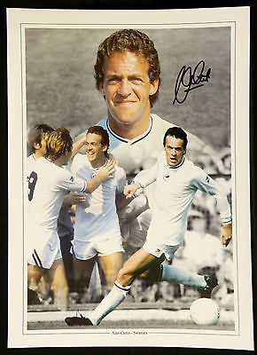 Alan Curtis Signed Swansea Football  12x16 Montage  : New