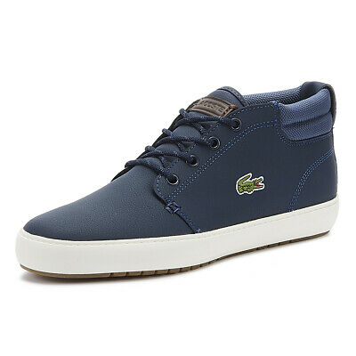 Lacoste Ampthill 319 1 Mens Blue Trainers Lace Up Casual Sport Shoes