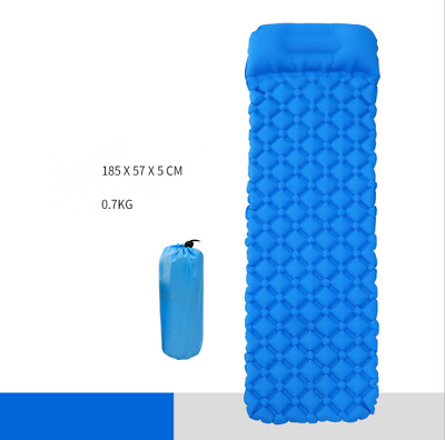 Ultralight Inflatable Sleeping Mat Camping Pad Roll Bed Mattress With Pillow