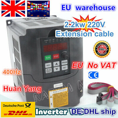【UK】 HY 2.2KW 220V VFD Inverter Converter Variable Frequency Drive Speed Control