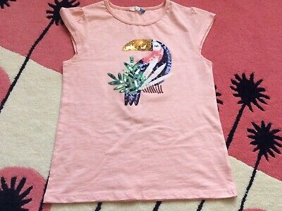 Girls Toucan Sequin Top By John Lewis Aged 11 Years in Pink