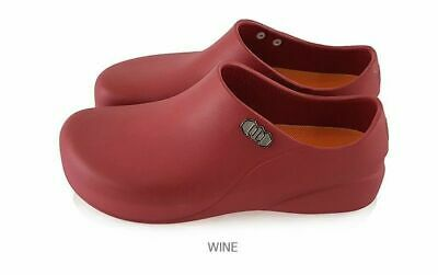 STICO Mens WINE Non-Slip Safety Chef Kitchen Shoes Highly Elastic EVA Insol_RUU