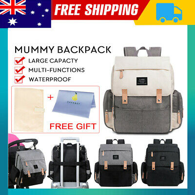 2019 GENUINE LAND Multifunctional Baby Diaper Backpack Changing Nappy Mummy Bag