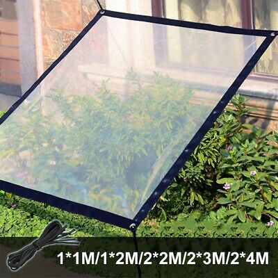 Clear Reinforced Waterproof Tarp Tarpaulin Garden Car Boat Cover Camping