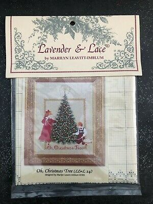 lavender and lace grille point de croix oh christmas tree