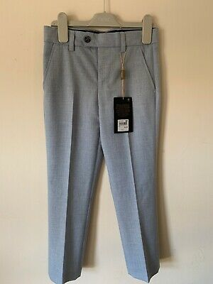 Boys Next Suit Trousers Age 8 Light Blue