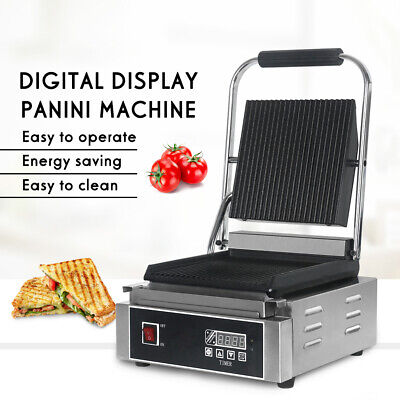 Electric Commercial Steak Sandwich Grill Digital Display Panini Grill Machine