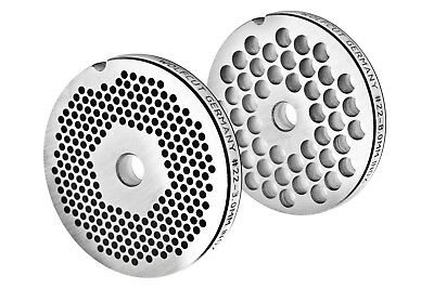 Perforated Disc Set for Meat Grinders Sizes 22/3 mm + 8 MM