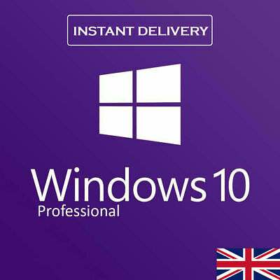 Microsoft Windows 10 Pro Professional Key 32/64 Bit -- Instant Delivery