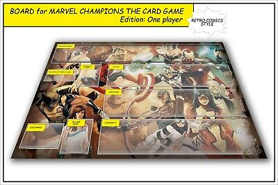Marvel Champions The Card Game Lcg Board Gameboard Ccg Playmat Single Player