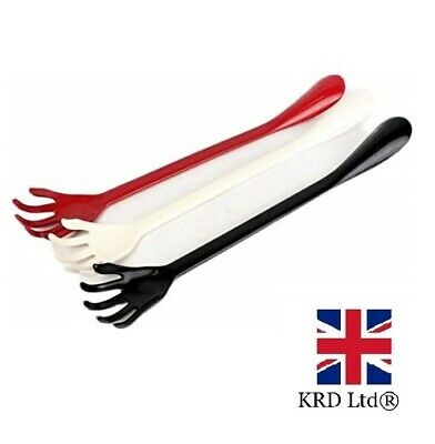 2 IN 1 BACK SCRATCHER & SHOE HORN Boot Aid Plastic Long Reach Handle GM0649 UK