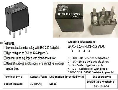 Song Chuan SPDT 10A 6VDC Relay Bosch Dishwasher Control Board 899-1C-F-C