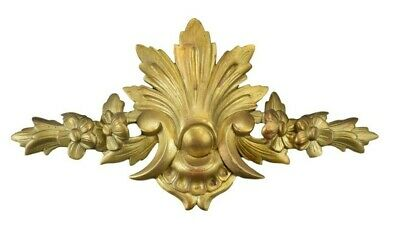 19th Century French Carved Gilt Wood Pediment Mount Cornice