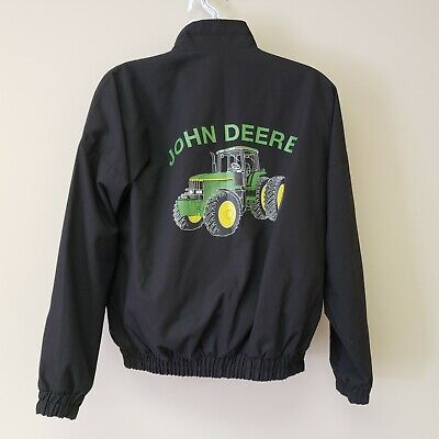 John Deere Tractor Jacket Size Large K Products USA Made Black