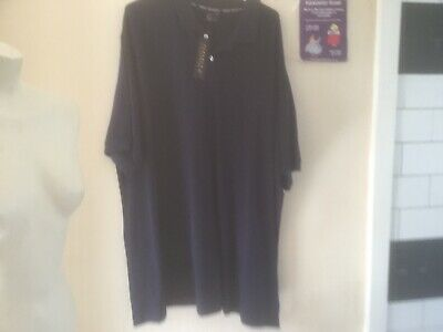 Mens Plus Size 3XL Plain Navy Polo