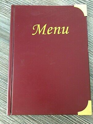 A5 Menu Cover: Wine Red, 4 Sleeves + Cover Inserts