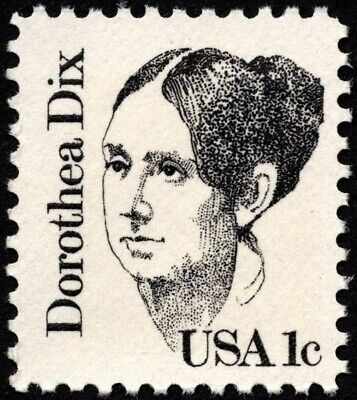 US - 1980 - 1 Cent Black Dorothea Dix Great Americans Issue #1844 Nice NH F-VF