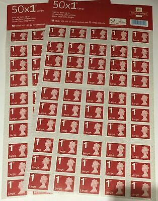 Genuine 100 x 1st Class Royal Mail Large Letter Stamps UK postage First Class