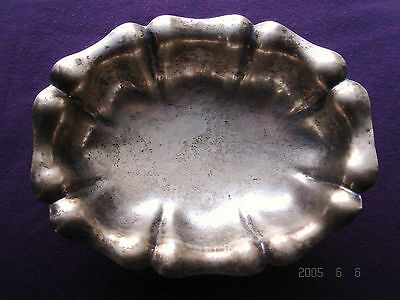 Antique Sterling Silver Footed Bowl Dish