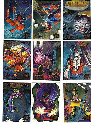 1995 Fleer Ultra X-Men Hunters & Stalkers Set 1-9 Inserts Wolverine ***