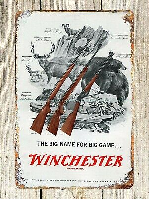 US Seller- dining room wall decor Winchester metal tin sign