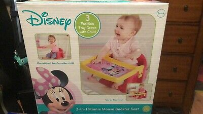 Disney MINNIE MOUSE 3-in-1 Booster Seat NEW!
